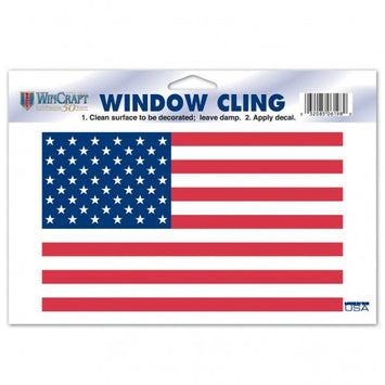 PATRIOTIC US FLAG WINDOW CLING