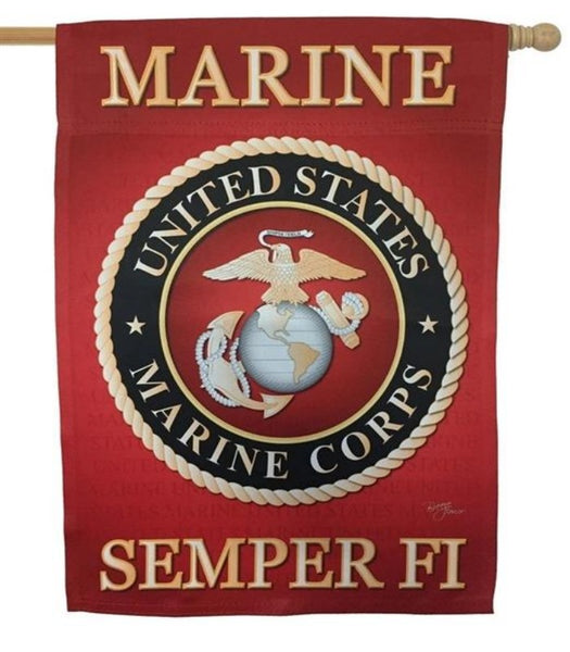US Marine Corps Banner Flag