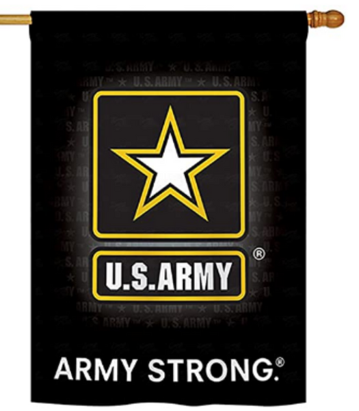 US ARMY LOGO DECORATIVE FLAG