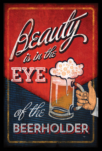 EYE OF THE BEERHOLDER DECORATIVE FLAG