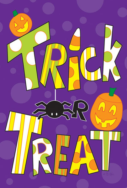 TRICKS AND TREATS BANNER FLAG
