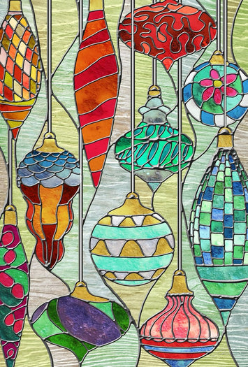 STAINED GLASS ORNAMENTS DECORATIVE FLAGS