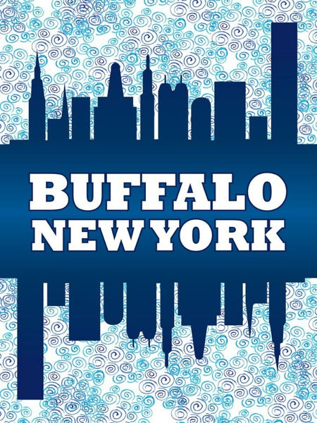 Buffalo Skyline Decorative Flag
