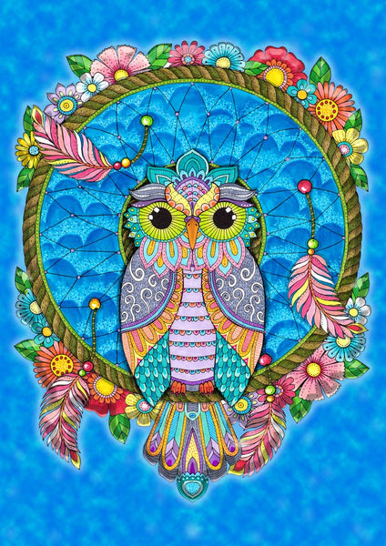 Dream Catcher Owl Decorative Flag