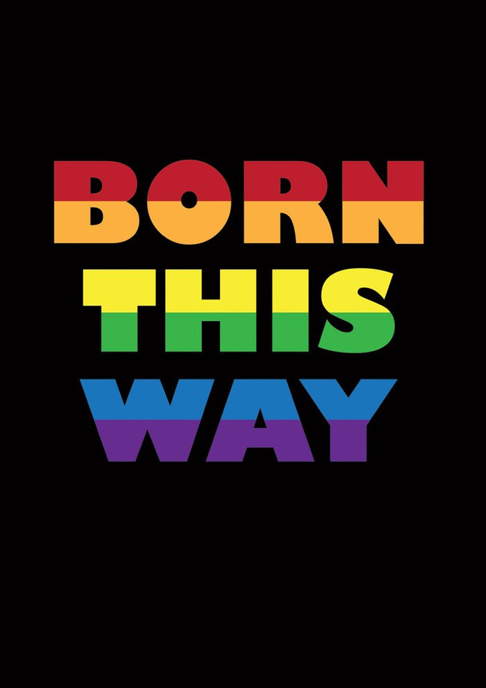 Born This Way Decorative Banner Flag