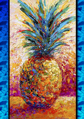 Poppin' Pineapple Decorative Flag