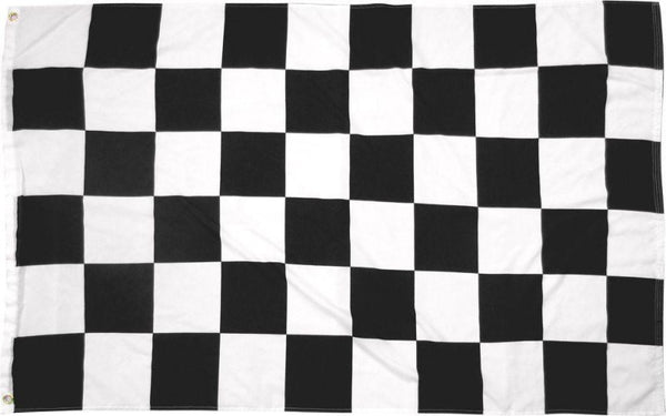 3X5 BLACK AND WHITE CHECKERED FLAG