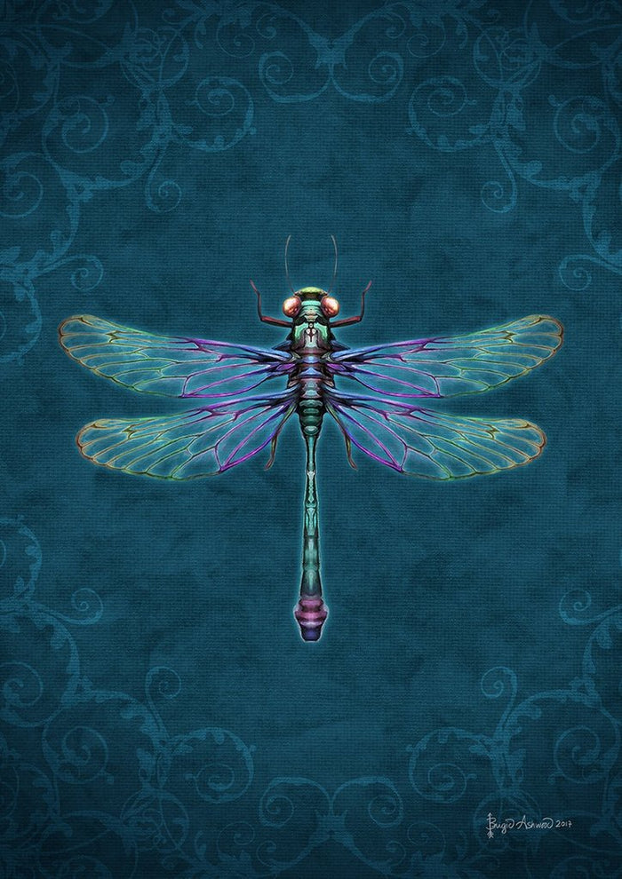 DAMASK DRAGONFLY BANNER FLAG