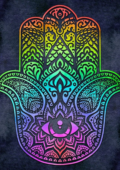 Rainbow Hamsa Decorative Flag (Online Exclusive)