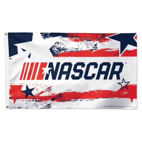 NASCAR logo with a patriotic motif