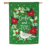 PEACE COMFORT & JOY DOUBLE SIDED BANNER