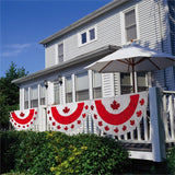 CANADA PATRIOTIC APPLIQUE BUNTING FAN