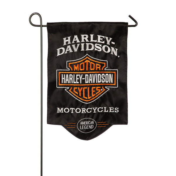 Harley Davidson Applique Sculpted Garden Flag