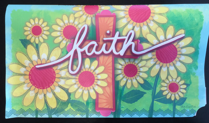 FAITH CROSS MAILBOX COVER