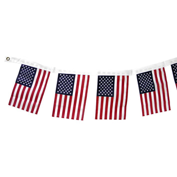 8'x12' US Flag Garland Polyester Bunting
