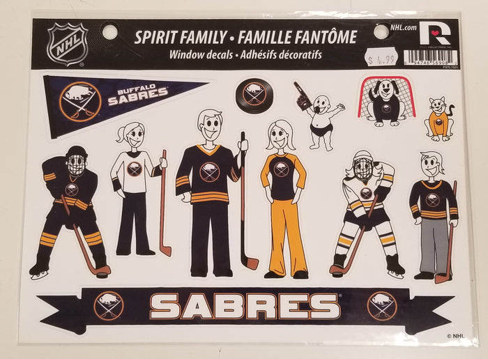 Sabres Spirit Family Window Decals