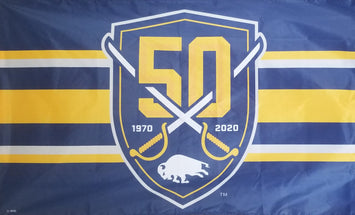 3x5' BUFFALO SABRES 50TH ANNIVERSARY FLAG
