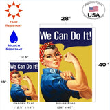 We Can Do It Decorative Flag