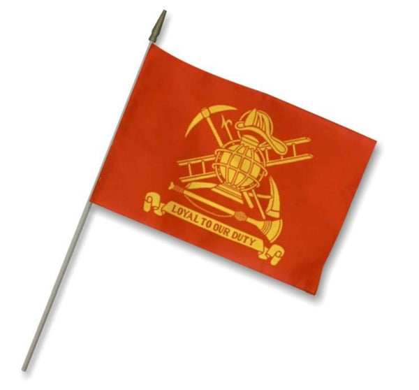 12X18 INCH FIREMAN'S LOYAL STICK FLAG
