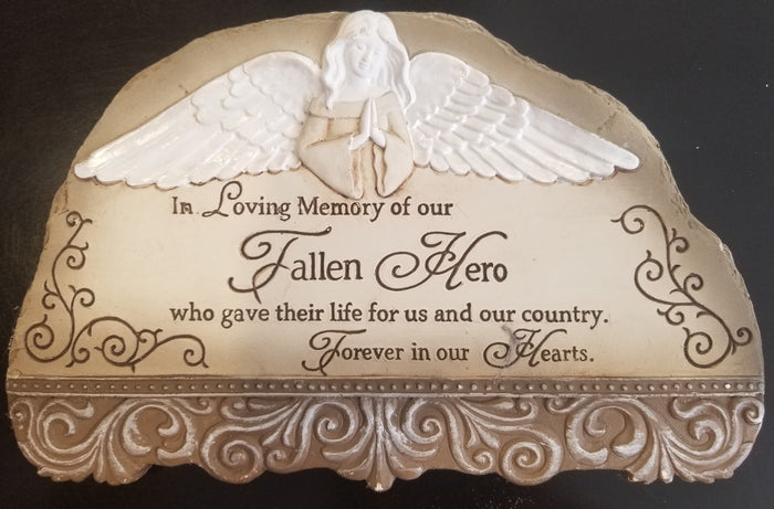 FALLEN HERO PLAQUE - SMALL