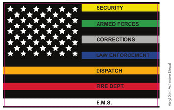 First Responders Flag List Decal