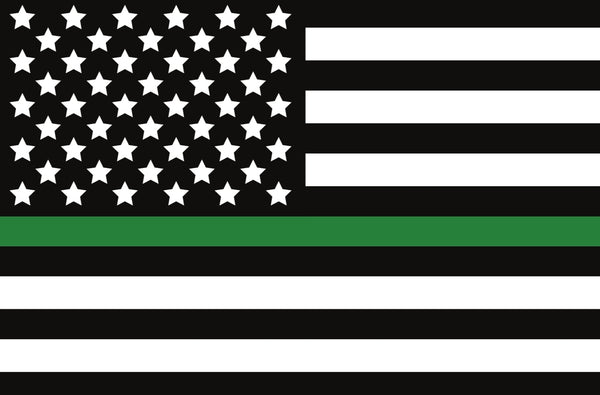THIN GREEN LINE US DECAL