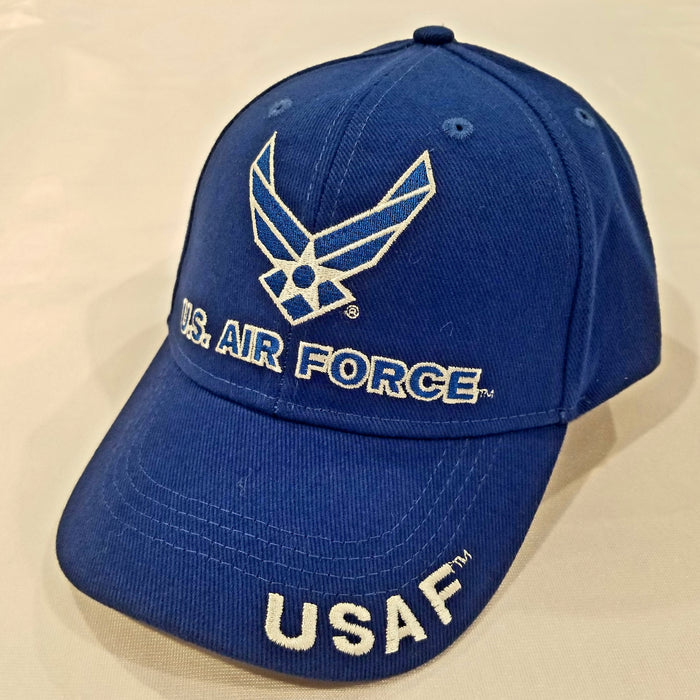 blue hat with the air force wings logo