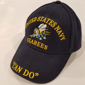 blue seabees navy embroidered hat