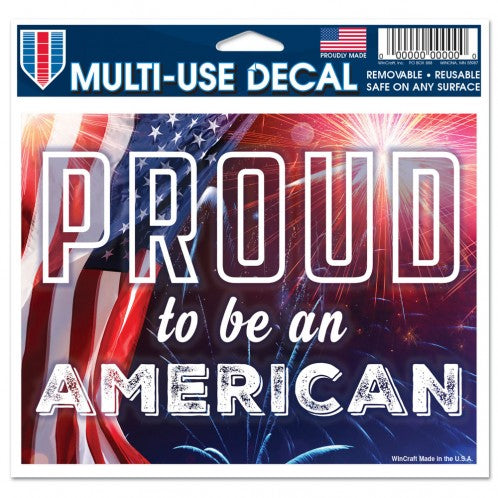 PATRIOTIC PROUD TO BE AN AMERICAN - MULTI-USE DECAL - CLEAR BACKGROUND 5