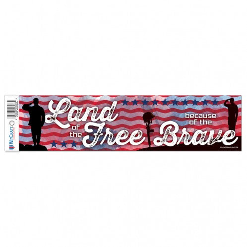 PATRIOTIC LAND OF THE FREE BUMPER STICKER