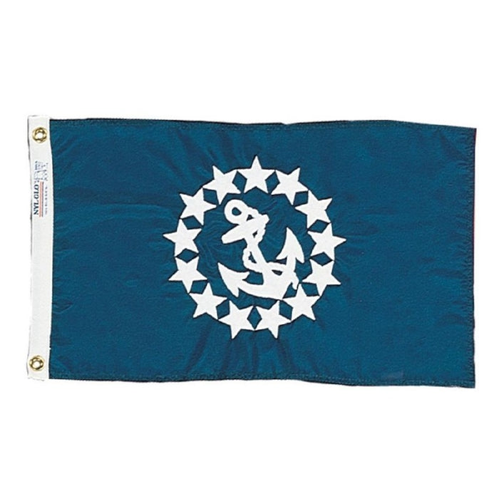 BLUE FLAG WITH EMBROIDERED STARS AND ANCHOR
