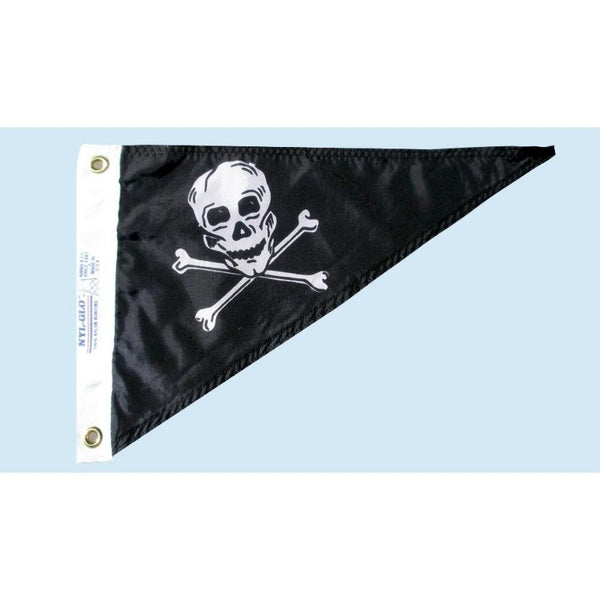 skull and crossbones bow pen flag