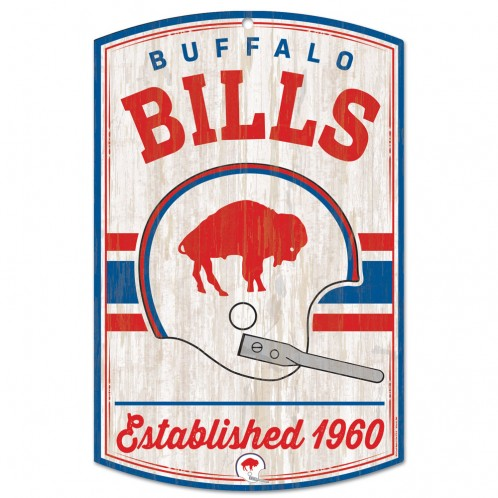 BUFFALO BILLS RETRO WOODEN SIGN