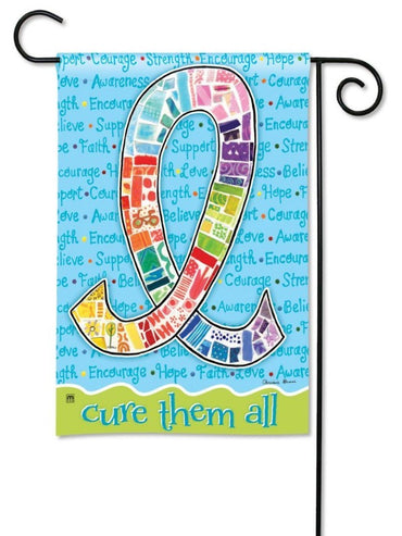 CURE THEM ALL GARDEN FLAG