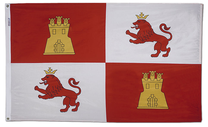 3'x5' Lions and Castles Nylon Flag