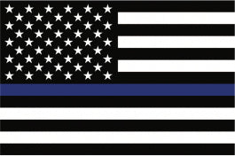 THIN BLUE LINE POLICE SUPPORT MAGNET