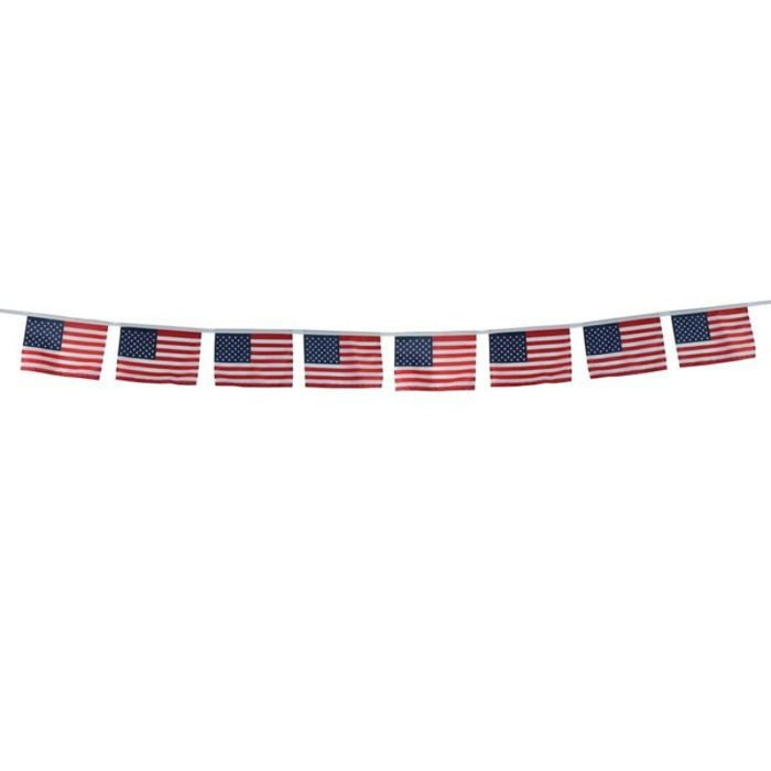 USA Flags on String
