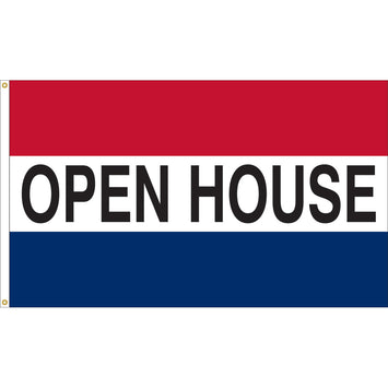 3'x5' Open House Nylon Flag