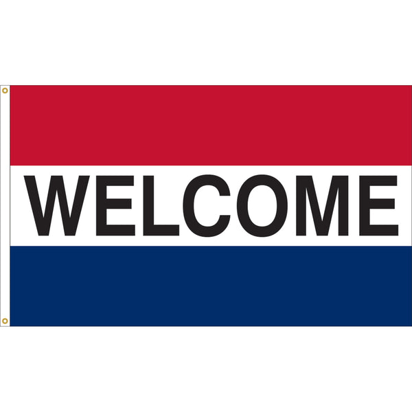 3'x5' Welcome Nylon Flag (Various Color Options)
