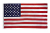 USA nylon Flag featuring embroidered stars and sewn stripes. 100% Certified Made in the U.S.A. by the FMAA