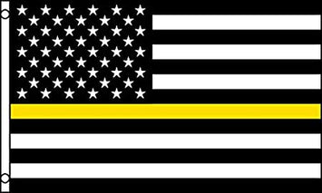 3X5' THIN YELLOW LINE POLYESTER FLAG