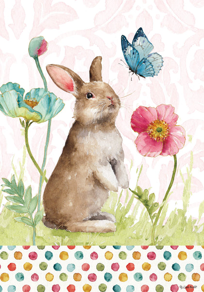 Bunny and Flowers Garden Flag