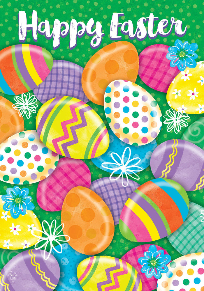 EASTER EGG HUNT DOUBLE SIDED DECORATIVE FLAG