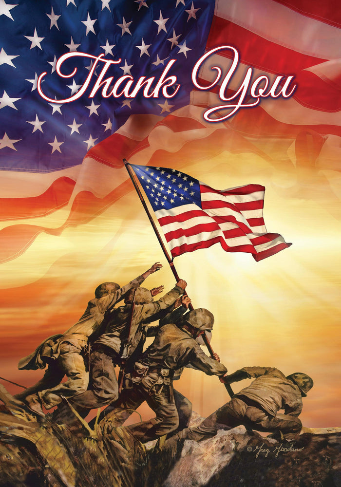 Troops Memorial (Thank You) Banner Flag