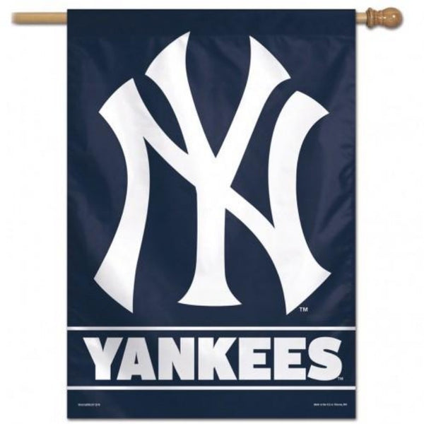 Blue background flag with the yankees symbol and the word