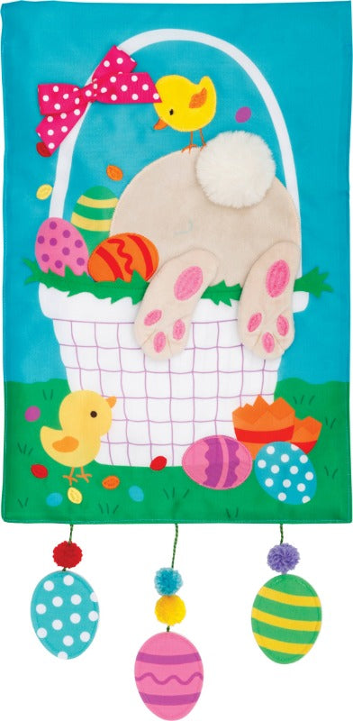 Easter Basket Applique Garden Flag