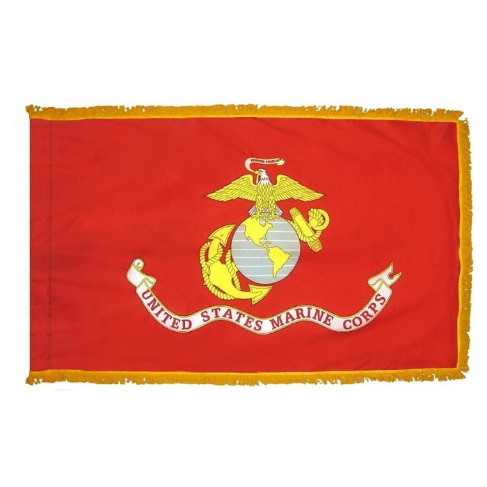 3x5 ft US Marine Corps Indoor/Parade Flag with Fringe