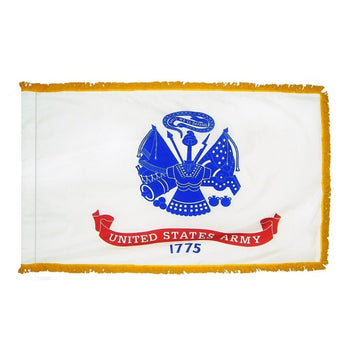 3x5 ft US Army Indoor/Parade Flag with Fringe