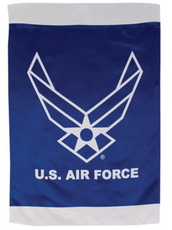 US Air Force Wings Lustre Banner Flag