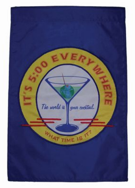 Happy Hour Cocktail Decorative Banner Flag